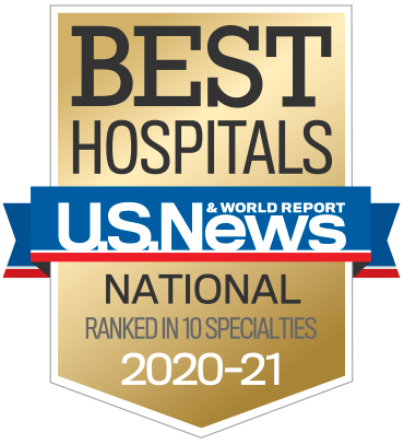 Top Ranked in 10 Specialties by U.S. News and World Report for 2020-21