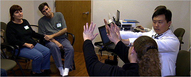 UCSD patients at a shared medical appointment
